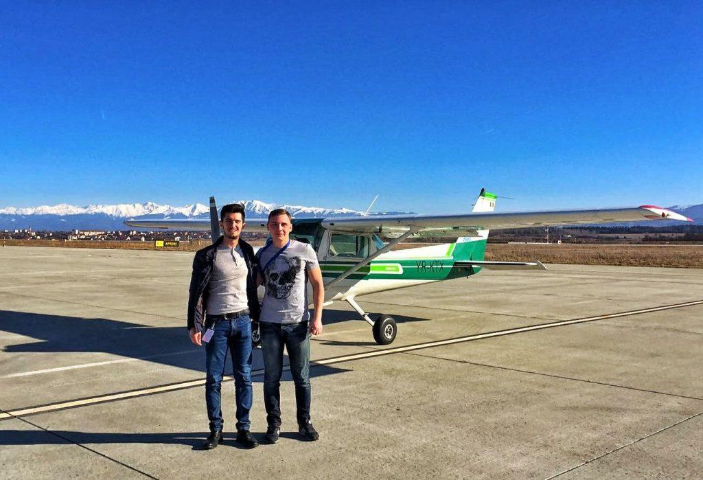 aeroport Sibiu aterizare Radu David