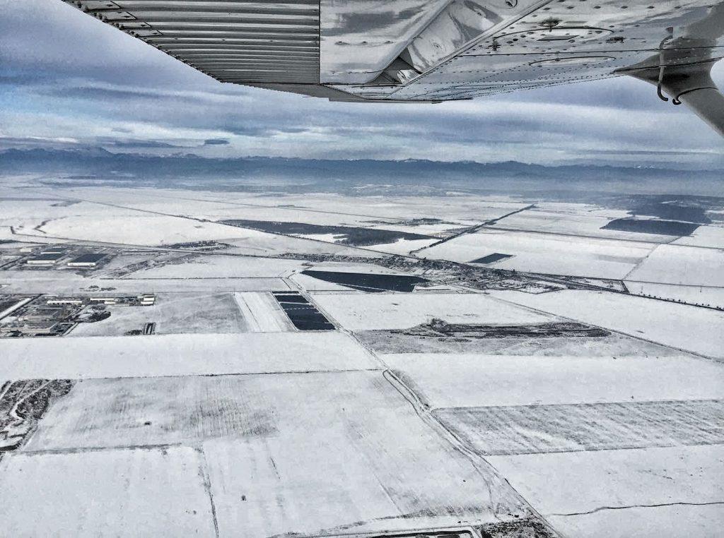 zbor de iarna