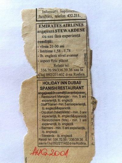 anunt recrutare ziar