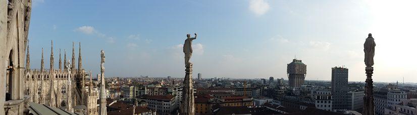 Milano vazut din Dom
